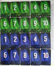FOR MAFIA CLUBS: 2sets of PLASTIC NUMBERs the same size cards (GREEN and BLUE)