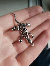 BULK 50 Lizard gecko charms antique silver tone A1002