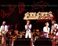 THE BEE GEES SIGNED AUTOGRAPH 8x10 RPT PHOTO BARRY GIBB MAURICE ROBIN AND ANDY