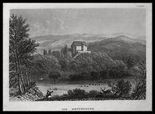 BETTENBURG bei Manau / Hofheim . Originaler Stahlstich 1845