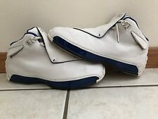 Nike Air Jordan XVIII 18 White/Metallic Silver-Royal 2003 305869-101 SZ 9.5