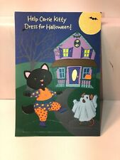 Paper Doll Or Cat Hallmark Halloween Card New Unpunched anthropomorphic