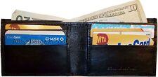 Men's Wallet Thin Leather 6 Credit ATM card slots 2 Billfolds wallet cartera