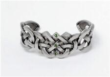 Celtic Endless Knot Heart Pattern Bangle Cuff Bracelet Pewter Alloy Jewelry J233