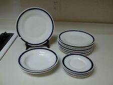 Richard Ginori Italy 14 Piece Set ~ Blue Bands ~ Plates & Bowls