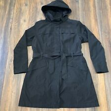 Womens The North Face CITY BREEZE RAIN HOODED TRENCH COAT Sz XL