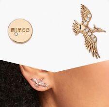 💖 Mimco New Full Flight Gold Earrings  + Dust Bag