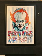 Pennywise IT Canvas Wall Art Stephen King 24x32 Framed Ready to Hang