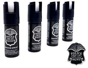 4 Police Magnum pepper spray .50oz GID actuator self defense security protection