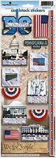 Paperhouse: Scrapbook Flat Die Cut Stickers Washington DC White House