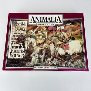 ANIMALIA Vintage 1986 750 Piece Jigsaw Puzzle 'The Letter H Hogs' Graeme Base