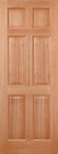 Hardwood Colonial External Door 6 Panel Solid Exterior Wooden M&T Door