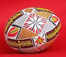 Easter egg basket decoration REAL BLOWN HANDPAINTED COLOR Ukrainian PYSANKA