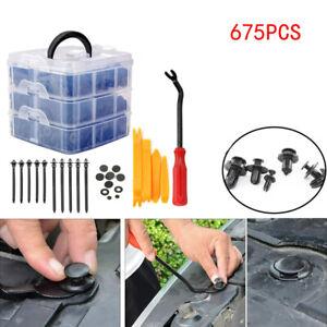 675pcs/Set Universal Car Clip Side Skirt Bumper Door Trim Install Push Fastener
