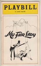 """My Fair Lady""  1976  Playbill Hirschfeld Cover!  Christine Andreas"