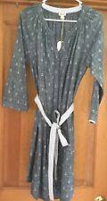 WOMENS HATLEY  ANCHOR SHIRT DRESS WITH BELT SIZE L NWT!