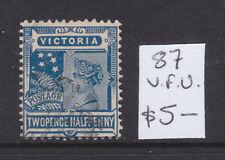 Victoria: 2 1/2d Blue Qv Postage Type Asc 87 V.F.Used