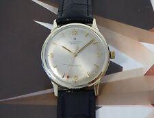 Vintage 1960's Solid 10K Men's Hamilton Thin-o-Matic Wristwatch 1 Year Warranty
