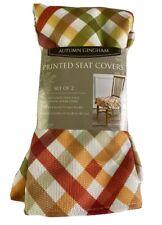 Set of 2 Autumn Splendor Gingham Seat Covers in Multicolor