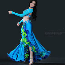 C939 High quality 4 Part. Professional Belly Dance Costume Bra Belt Skirt and
