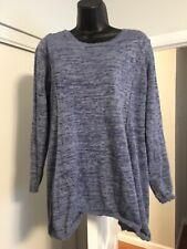 Pea In The Pod Sweater Sweatshirt L Blue Gray Criss Cross Open Back Pullover R1