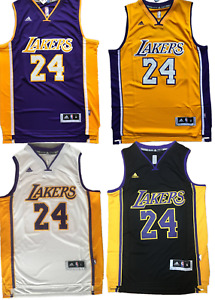 4 Colors!New Men's Kobe Bryant #24 Los Angeles Lakers Throwback Swingman Jersey