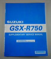 Workshop Manual Supplement/Supplement Suzuki Gsx-R 750 From 2001
