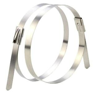Solar Cable Ties Zip Ties 316 Stainless Steel Uncoated 300mm x 4.6mm - Pack of 1