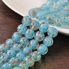 Hot 5pcs 12mm Lampwork Glass Dots Loose Spacer Round Beads Charms Lake Blue