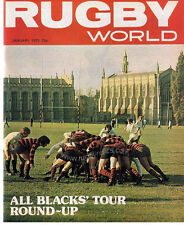 RUGBY WORLD MAGAZINE JANUARY 1975 - PERFECT GIFT FOR A FAN BORN IN THIS MONTH