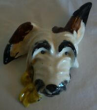 VINTAGE CERAMIC DOG WALL MASK- MADE IN ENGLAND