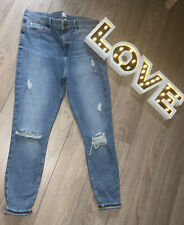 RIVER ISLAND MOLLY DISTRESSED RIPPED JEANS SIZE 18