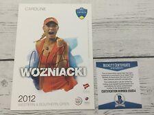 Caroline Wozniacki Signed Autographed 5x7 W&S Card Beckett BAS COA a