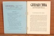 Gerarchia, rivista politica mensile fondata da Benito Mussolini. Aprile 1927.