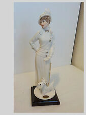 GIUSEPPE ARMANI FLORENCE ITALY FIGURINE*1999 CHAMPS ELYSEES * LADY WITH SCOTTIE