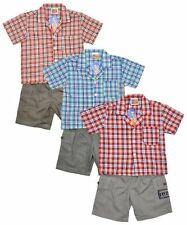 Cotton Blend Checked Outfits & Sets (0-24 Months) for Boys
