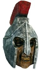 Scary Halloween Latex Head & Face MaskRoman Soldier Creepy Party Costume