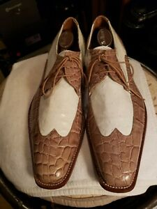 Georgio Brutini Ostrich And Alligator Print Men Dress Shoes Sz 11-M
