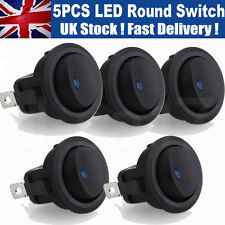 5 pcs Smart Switch 12V Round Rocker ON/OFF Switch Car/Boat LED/Light BLUE UK GL