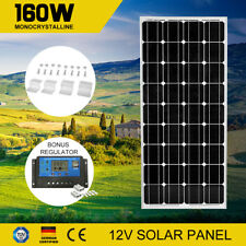 160W Solar Panel Kit Mono Cells & Regulator & Mounting Brackets 160watt 12V