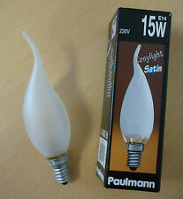 Paulmann Glühlampe Windstoßkerze matt 15W E14 Kerzenlampe Cosylight satin 514.10