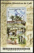 BRAZIL MNH 2003 Historic Coffee Farms - Fazenda Pau d'Alho-RJ/Fazenda Ponte Alta