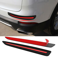 2Pcs Car Sticker Bumper Strips Anti Scratch Front/Rear Corner Guard Protection