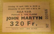 1983 JOHN MARTYN BELGIUM CONCERT TICKET GRACE AND DANGER PHILENTROPY