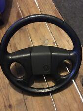 Volkswagen VW MK1 Rabbit Cabriolet Leather 4 Spoke Steering Wheel 85-91