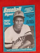 SEP 1972 BASEBALL DIGEST ROBERTO CLEMENTE COVER PITTSBURGH PIRATES