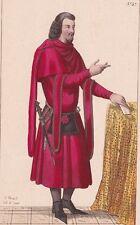 Portrait Seigneur Cour du Roi Jean XIVe Siècle