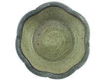 A Keith Smith stoneware bowl. Devon studio pottery. English. Green and blue