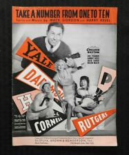 "1934 ""COLLEGE RYTHYM"" MOVIE ""TAKE A NUMBER FROM 1-10"" YALE RUTGERS FOOTBALL"