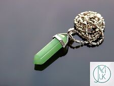 Green Aventurine Crystal Point Pendant Natural Gemstone Necklace Healing Stone